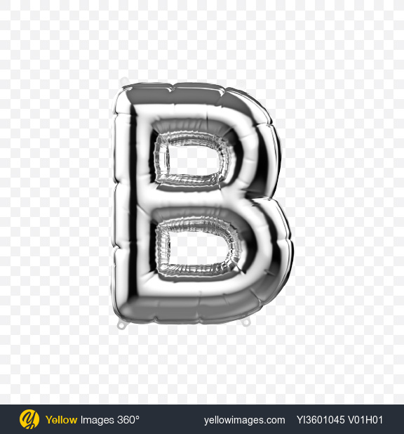Download Letter B Foil Balloon Transparent PNG on Yellow Images 360°
