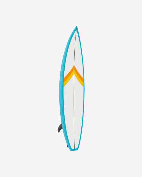 White Surfboard with Stripes