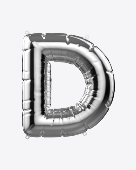 Letter D Foil Balloon