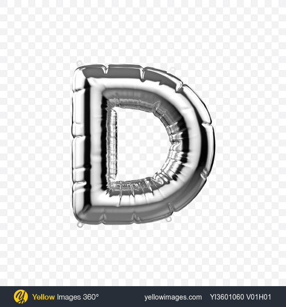 Download Letter D Foil Balloon Transparent PNG on Yellow Images 360°