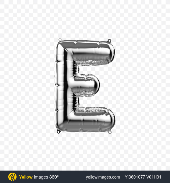 Download Letter E Foil Balloon Transparent PNG on Yellow Images 360°