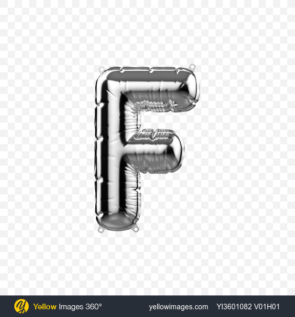 Download Letter F Foil Balloon Transparent PNG on Yellow Images 360°