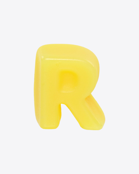 Yellow Gummy Letter R