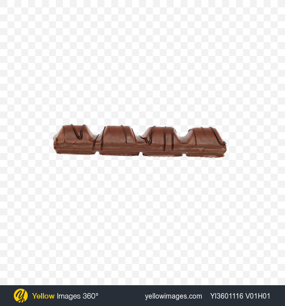 Download Milk Chocolate Covered Wafer Bar Transparent PNG on Yellow Images 360°