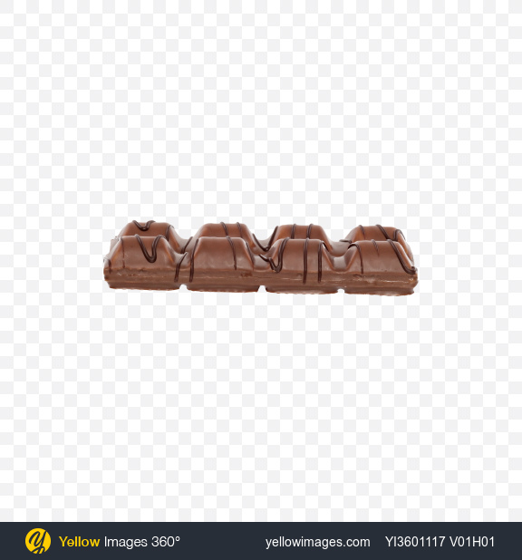 Download Two Milk Chocolate Covered Wafer Bars Transparent PNG on Yellow Images 360°