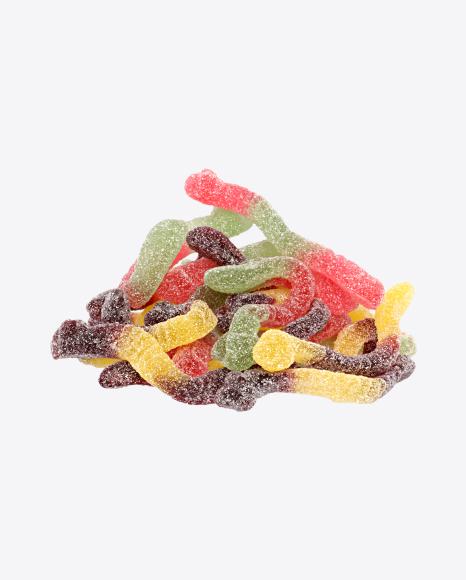 Bulk of Sugar Coated Gummy Worms