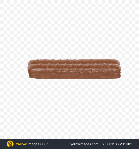Download Two Milk Chocolate Covered Cookie Bars Transparent PNG on Yellow Images 360°