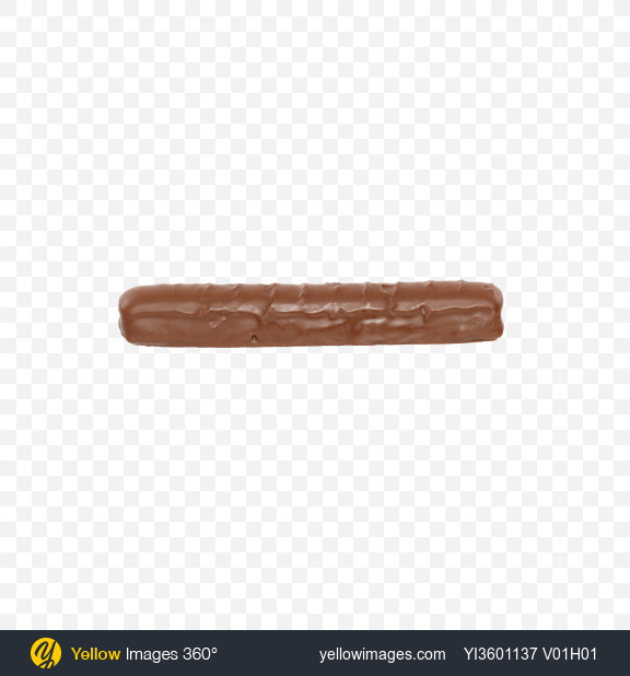 Download Milk Chocolate Covered Cookie Bar Transparent PNG on Yellow Images 360°