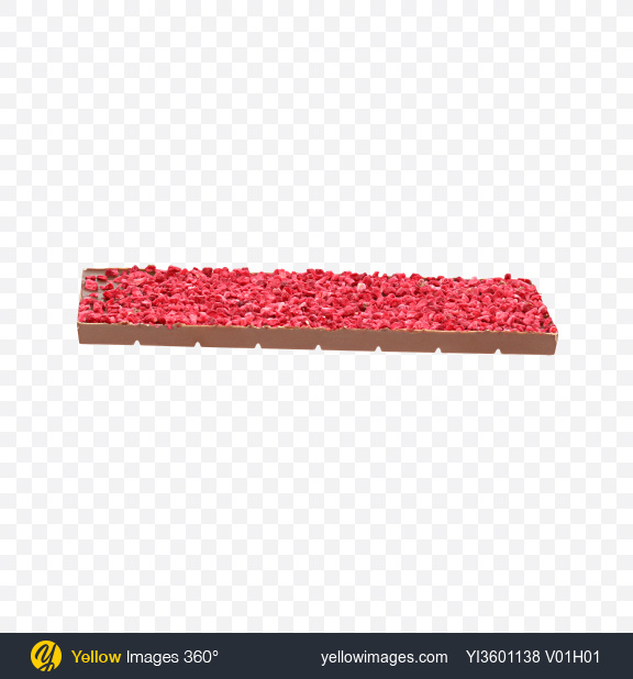 Download Milk Chocolate with Dried Raspberry Pieces Transparent PNG on Yellow Images 360°