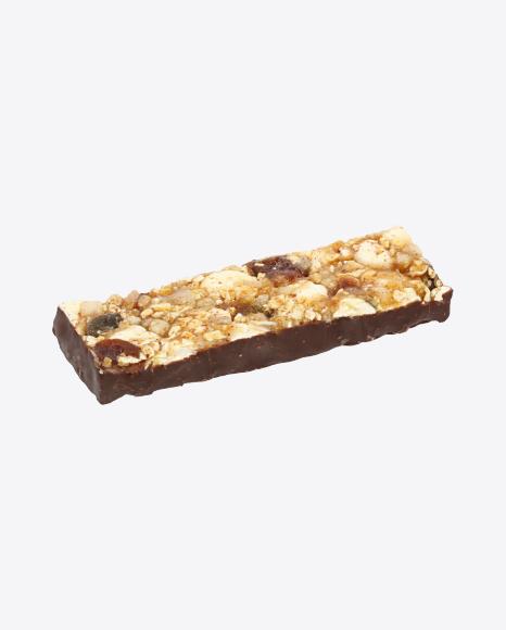 Chocolate Bar with Dried Peach and Popcorn