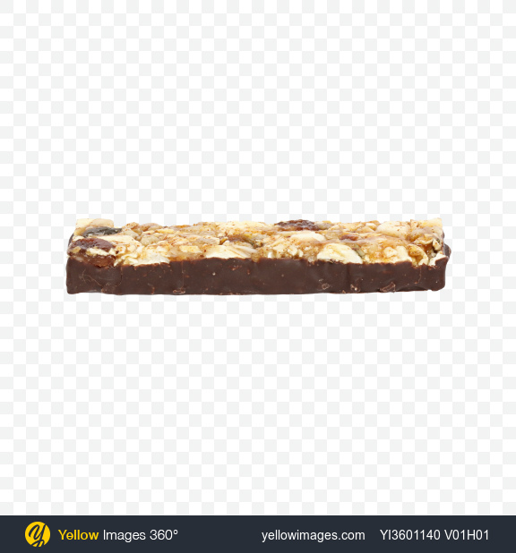 Download Chocolate Bar with Dried Peach and Popcorn Transparent PNG on Yellow Images 360°