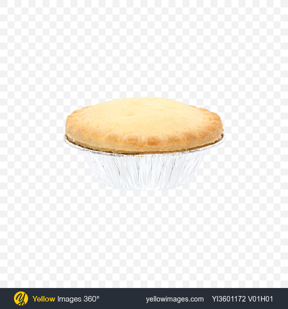 Download Mini Pie in Foil Pot Transparent PNG on Yellow Images 360°
