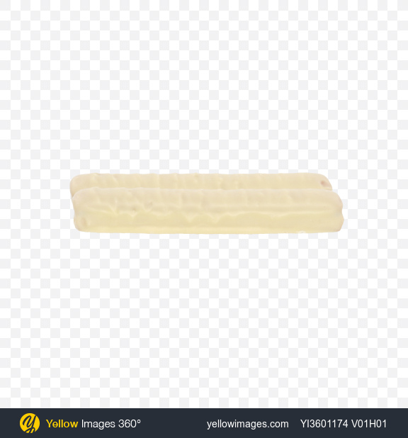 Download Two White Chocolate Covered Cookie Bars Transparent PNG on Yellow Images 360°