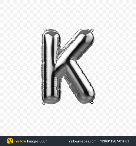 Download Letter K Foil Balloon Transparent PNG on YELLOW Images