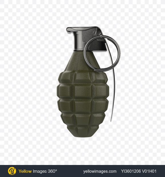 Download Hand Grenade Transparent PNG on Yellow Images 360°