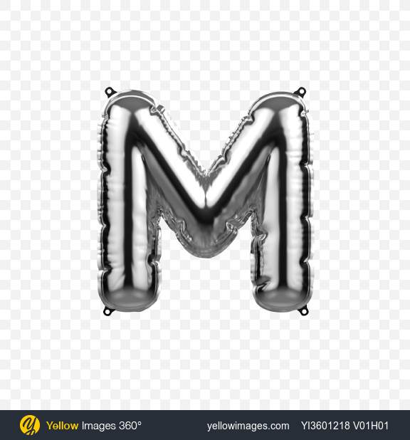 Download Letter M Foil Balloon Transparent PNG on YELLOW Images