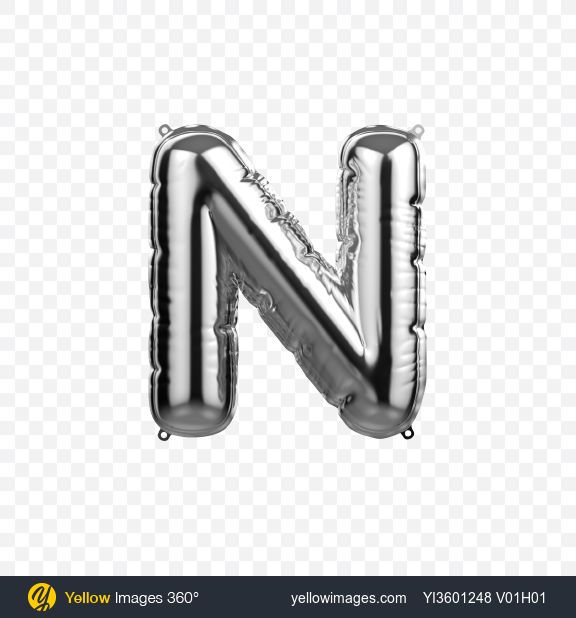 Download Letter N Foil Balloon Transparent PNG on YELLOW Images