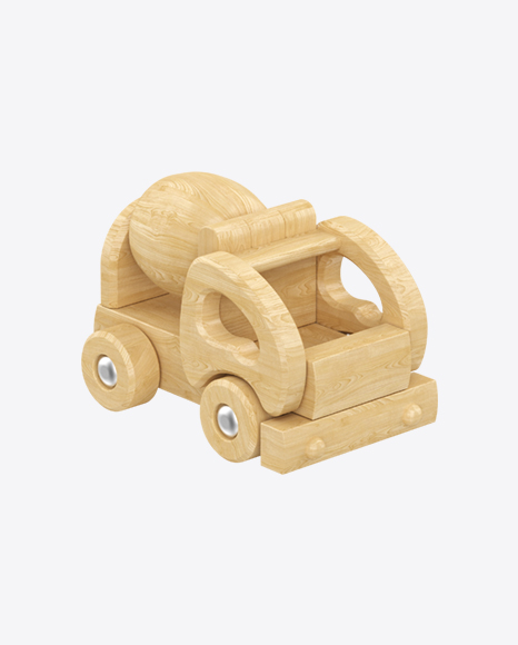 Cement Mixer Wooden Toy