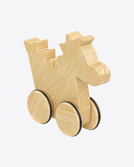 Dinosaur on Wheels Wooden Toy
