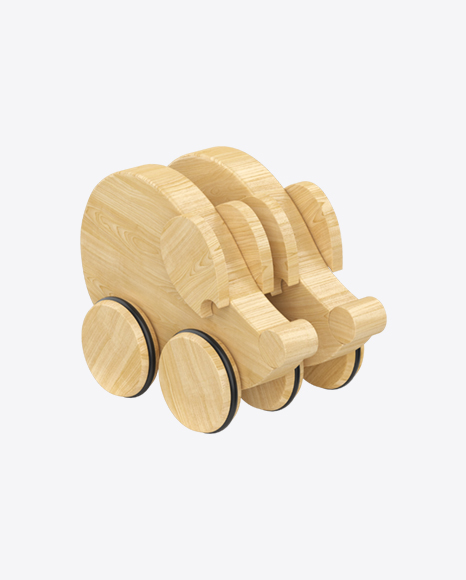 Two Mice on Wheels Wooden Toy