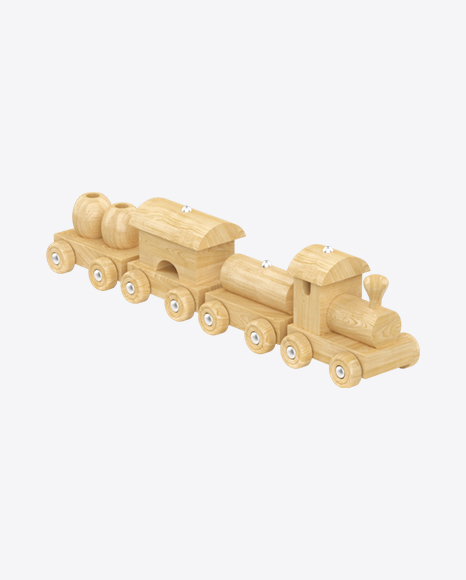 Wooden Toy Freight Train