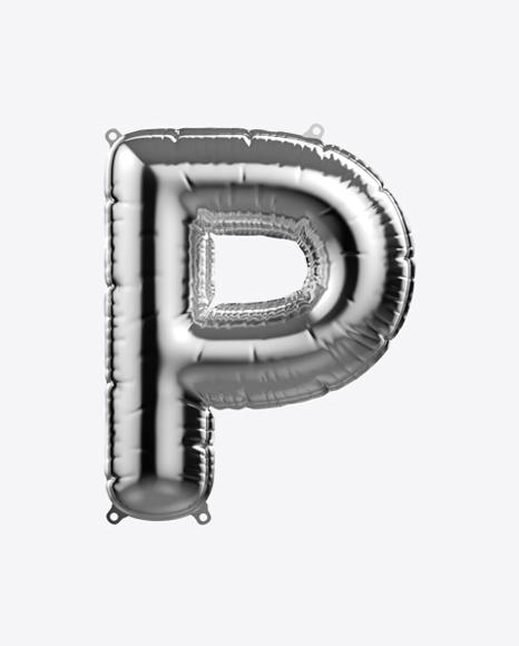 Letter P Foil Balloon