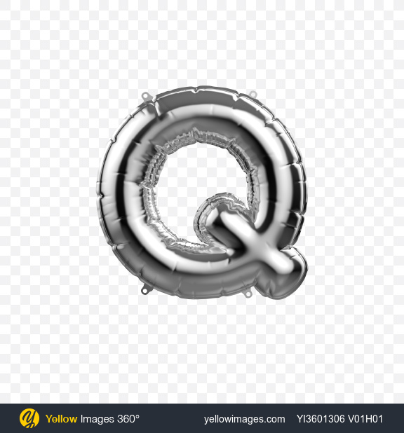 Download Letter Q Foil Balloon Transparent PNG on YELLOW Images