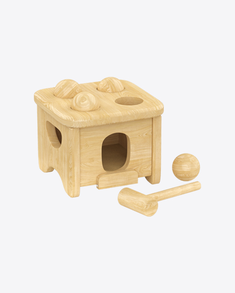 Download Wooden Hammer Peg Toy Transparent Png On Yellow Images 360