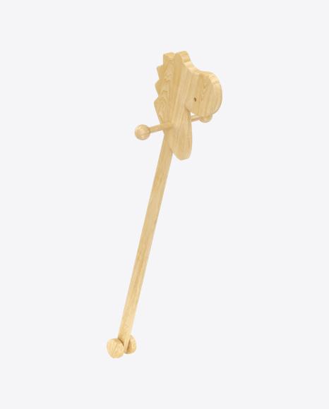 Wooden Dinosaur on Stick