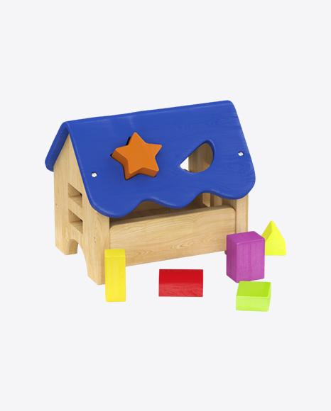 Wooden House Shape Sorter