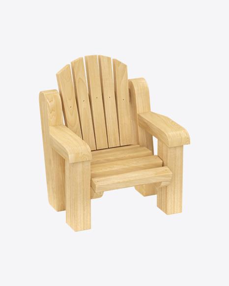 Kids Wooden Armchair