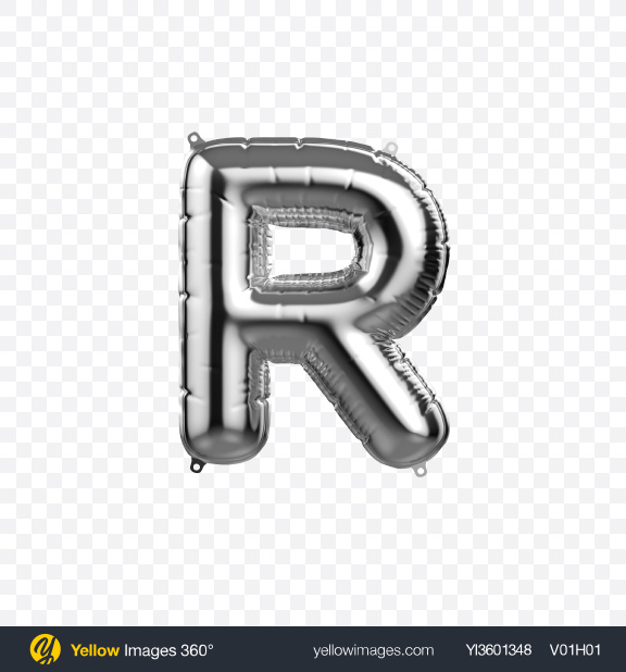 Download Letter R Foil Balloon Transparent PNG on YELLOW Images