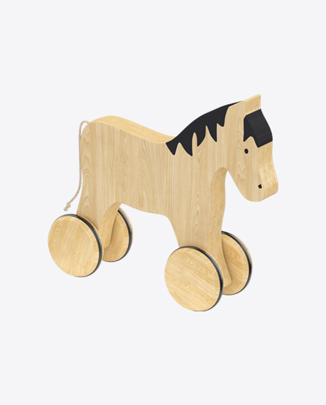 Wooden Horse on Wheels