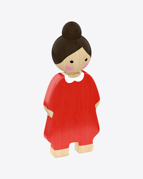 Wooden Toy Lady