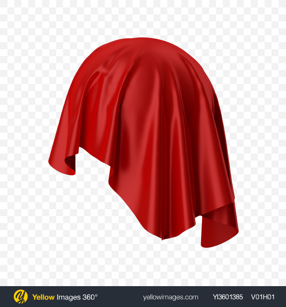 Download Red Satin Cloth Transparent PNG on Yellow Images 360°