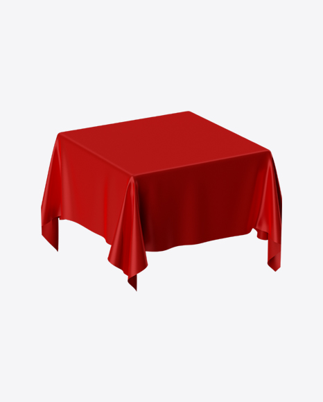 Red Satin Cloth on Square Surface