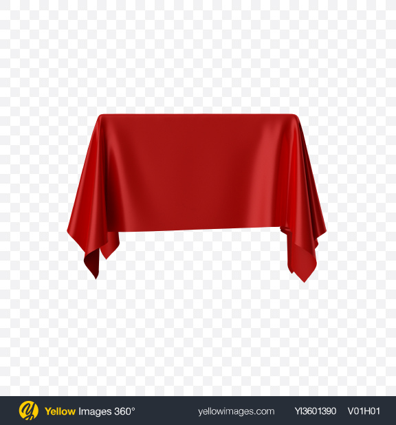 Download Red Satin Cloth on Square Surface Transparent PNG on Yellow Images 360°