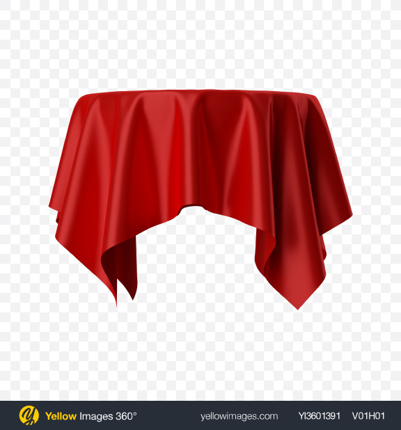 Download Red Satin Cloth on Round Surface Transparent PNG on Yellow Images 360°