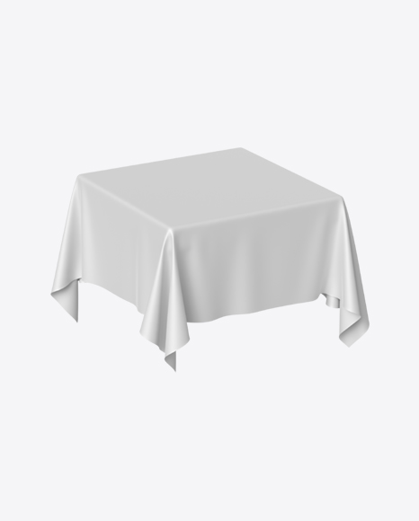 White Satin Cloth on Square Surface