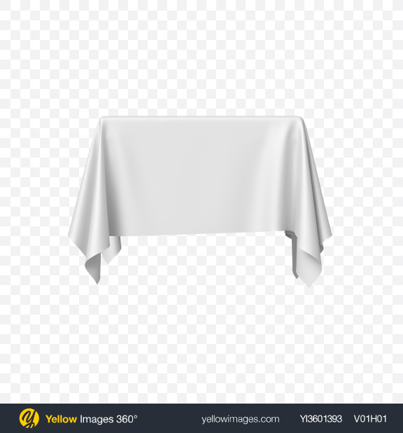 Download White Satin Cloth on Square Surface Transparent PNG on Yellow Images 360°