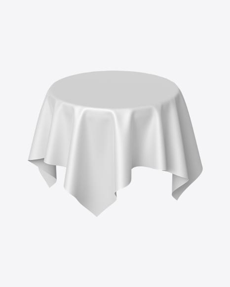 White Satin Cloth on Round Surface
