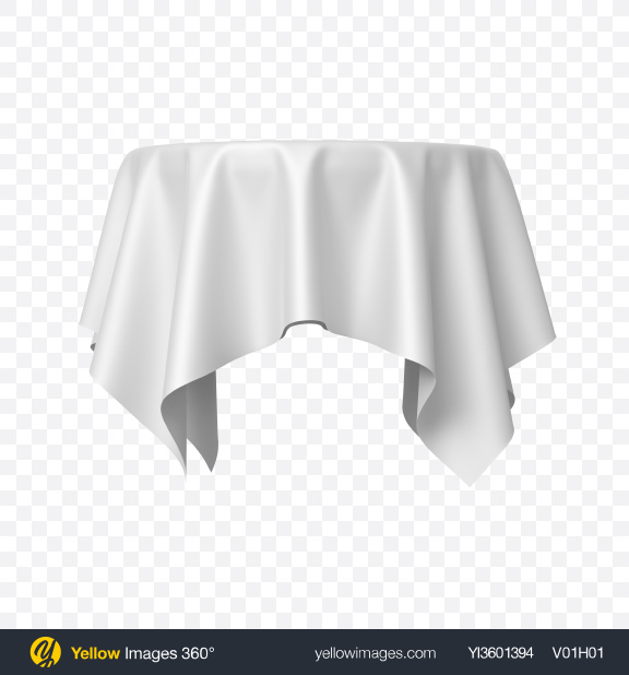 Download White Satin Cloth on Round Surface Transparent PNG on Yellow Images 360°