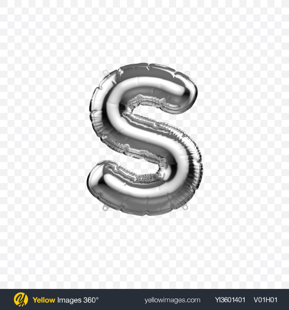 Download Letter S Foil Balloon Transparent PNG on YELLOW Images