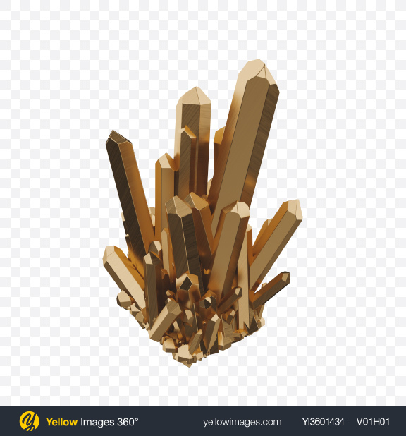 Download Golden Crystals Transparent PNG on Yellow Images 360°