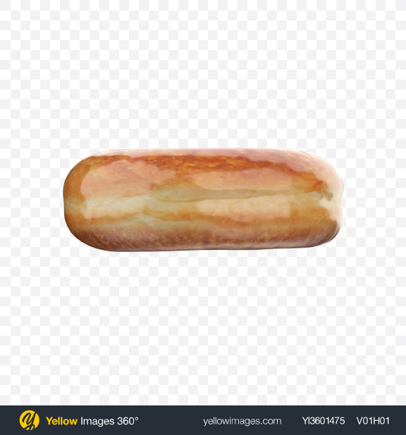 Download Sugar Glazed Donut Transparent PNG on Yellow Images 360°