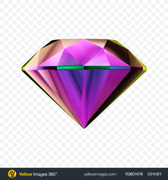 Download Faceted Jewelry Stone Transparent PNG on Yellow Images 360°