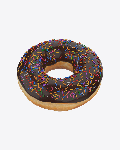 Chocolate Glazed Donut with Sprinkles