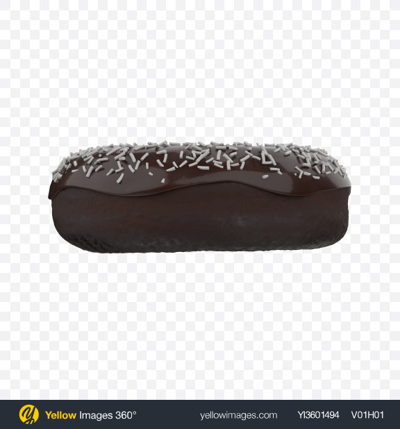 Download Glazed Chocolate Cake Donut with Sprinkles Transparent PNG on Yellow Images 360°