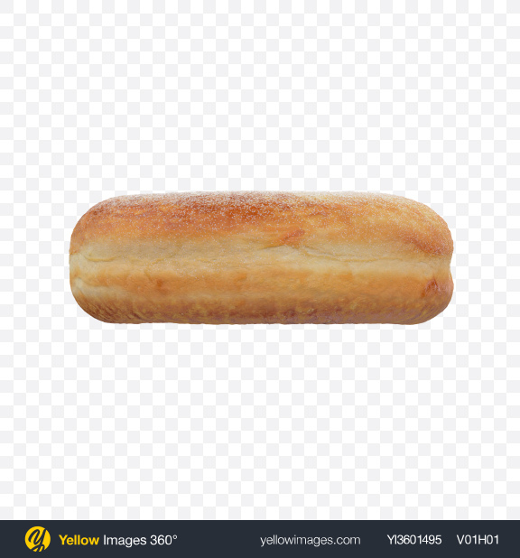 Download Donut in Sugar Powder Transparent PNG on Yellow Images 360°