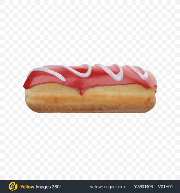 Download Red Glazed Donut Transparent PNG on Yellow Images 360°
